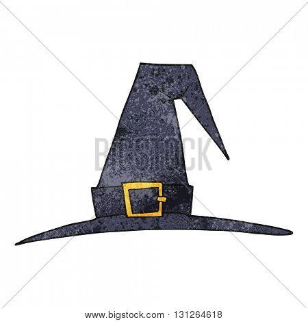 freehand textured cartoon witch hat