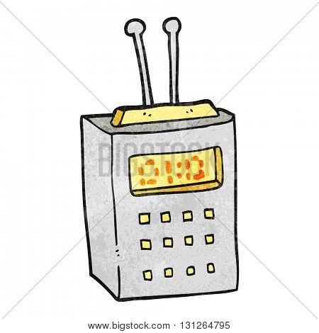 freehand textured cartoon scientific device
