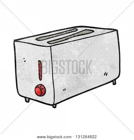 freehand textured cartoon toaster