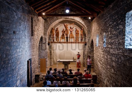 Roman Church Of Santa Eulalia In Erill-la-vall  In Catalonia, Sp
