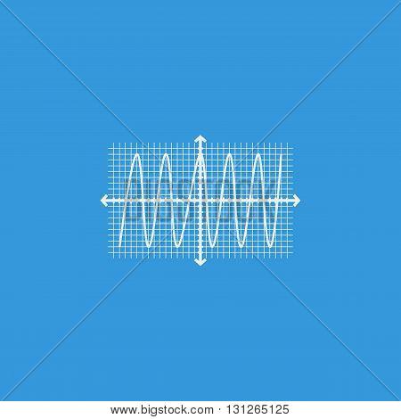 Cosine Icon In Vector Format. Premium Quality Cosine Symbol. Web Graphic Cosine Sign On Blue Backgro