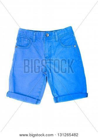 shorts for boy isolated on white background