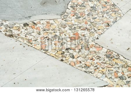 Closeup surface old marble stone floor texture background