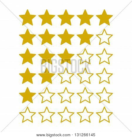 Simple Rating Stars on White background. Vector illustration