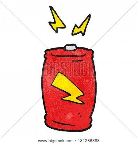 freehand textured cartoon battery