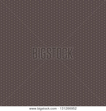Seamless geometric modern vector pattern. Fine ornament with dotted elements. Brown and golden pattern