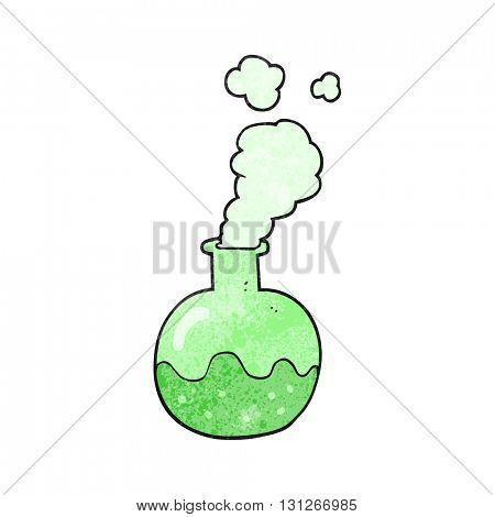freehand textured cartoon chemical reaction
