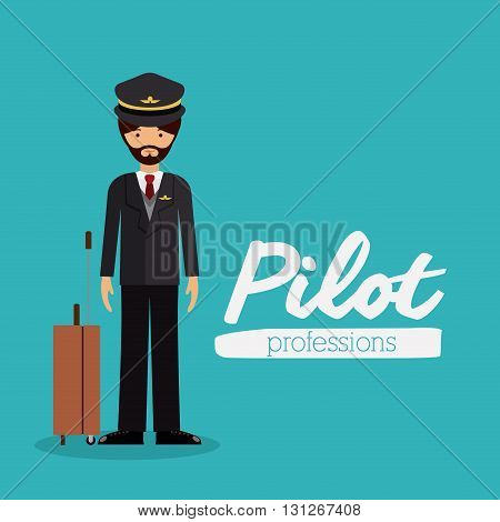 pilot isolated design, vector illustration eps10 graphic