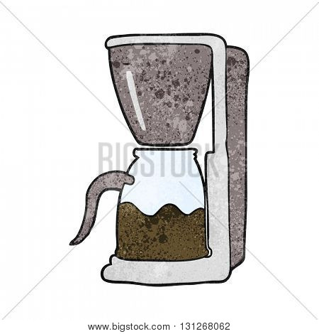 freehand textured cartoon coffee maker