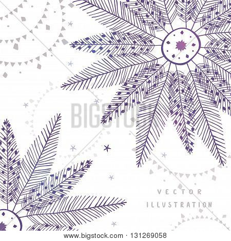 Beautiful and stylish boho ornament for design. Vector illustration