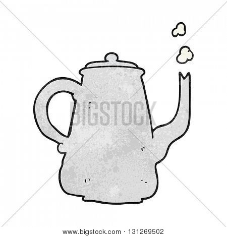 freehand textured cartoon coffee pot