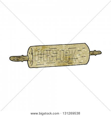 freehand textured cartoon rolling pin