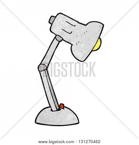 freehand textured cartoon desk lamp