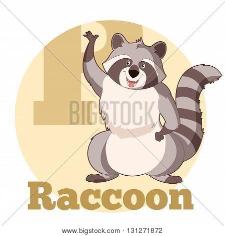 Vector image of the ABC Cartoon Raccoon3