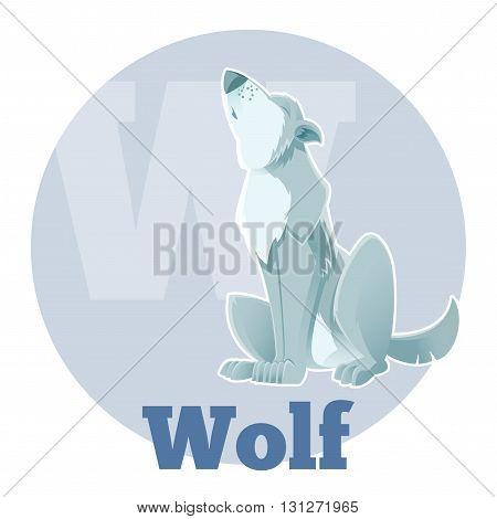 Vector image of the ABC Cartoon Wolf3