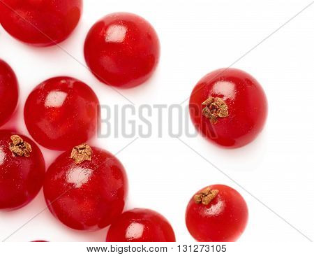 Red ripe  Currant berries isolated over white background