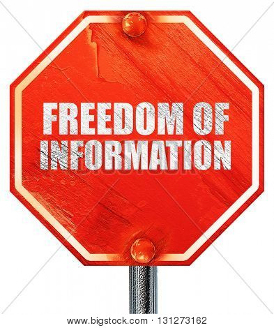 freedom of information, 3D rendering, a red stop sign