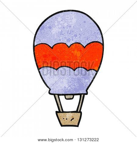 freehand textured cartoon hot air balloon