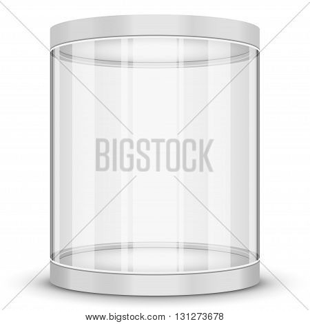 round white Showcases isolated on a white background