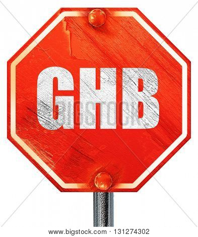ghb, 3D rendering, a red stop sign