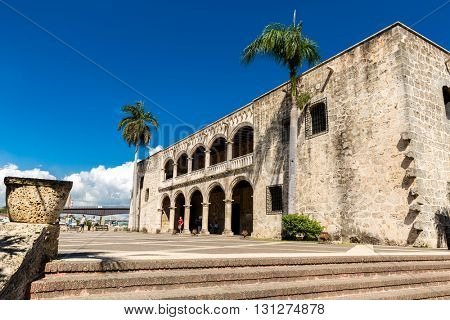SANTO DOMINGO, DOMINIC REPUBLIC - CIRCA JAN 2016: Alcazar de Colon in Santo Domingo, Dominican Republic