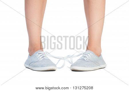 Tied Shoe Laces Prank