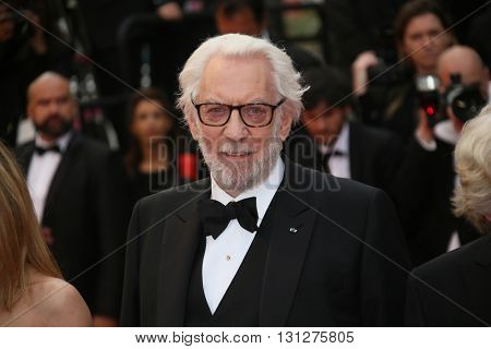 Donald Sutherland  attends the Closing Ceremony of the 69th annual Cannes Film Festival at the Palais des Festivals on May 22, 2016 in Cannes, France.
