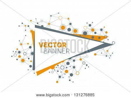 A modern technical banner design with a network theme