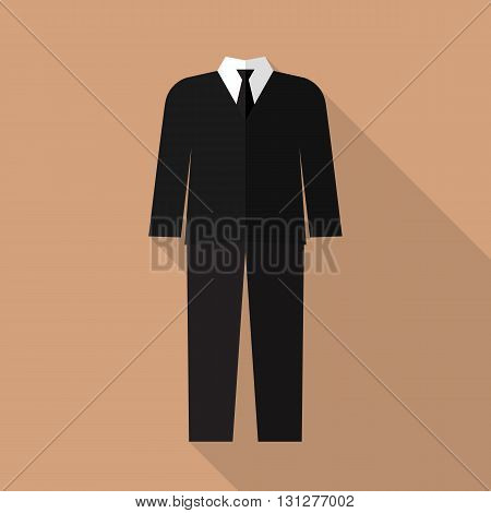 Professional suit flat icon. Vector illustration in flat style