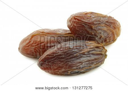 date fruit on a white background