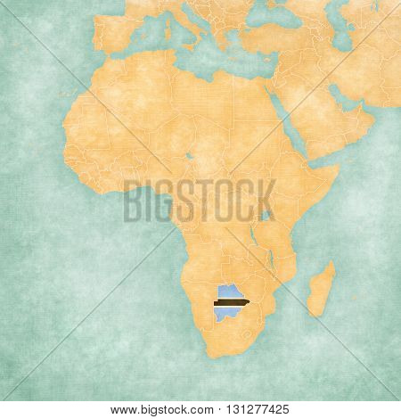 Map Of Africa - Botswana