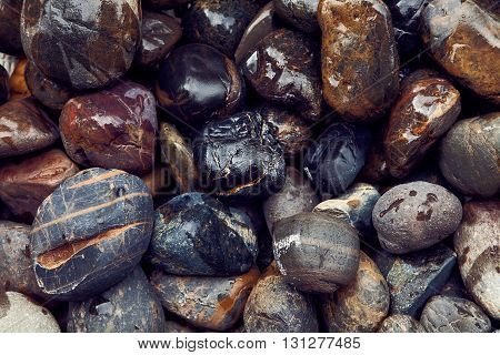 Sea stones background, natural background for design