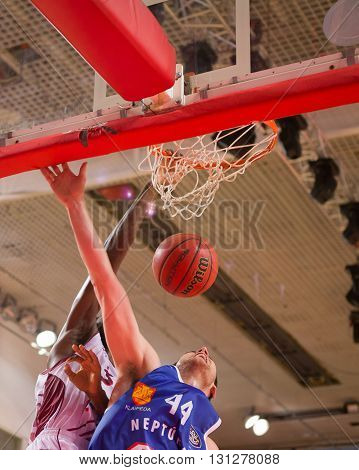 Bc Krasnye Krylia Forward Julian Wright (30) Finishes A Slam Dunk