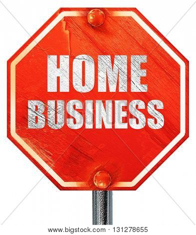 home business, 3D rendering, a red stop sign