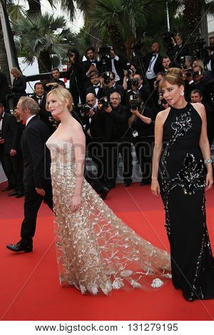 Kirsten Dunst, Valeria Golino  attend the Closing Ceremony of the 69th annual Cannes Film Festival at the Palais des Festivals on May 22, 2016 in Cannes, France.