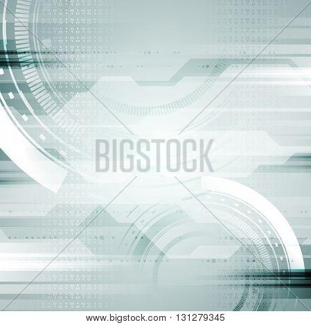 Hi-tech light blue abstract background. Vector illustration