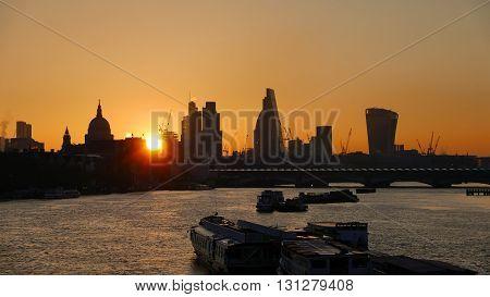 London Morning Skyline Sunrise