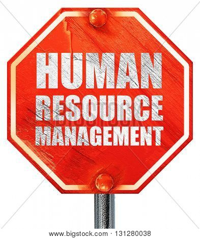 human resource management, 3D rendering, a red stop sign