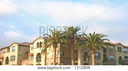 California Luxury Condominiums With Blue Sky