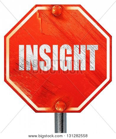 insight, 3D rendering, a red stop sign