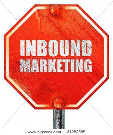 inbound marketing, 3D rendering, a red stop sign