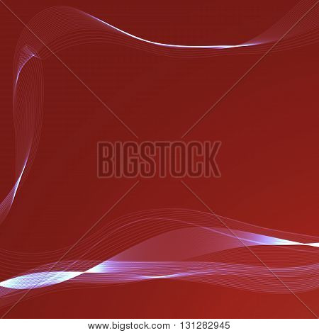 Abstract background with wavy ribbons and space for your text