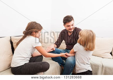 Stepfather Having Fun With Step Daughters
