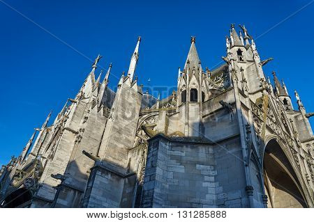 Gothic Saint-Urbain Basilica in Troyes in France