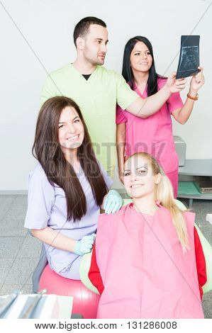 Portrait Of A Professional Dentist Team
