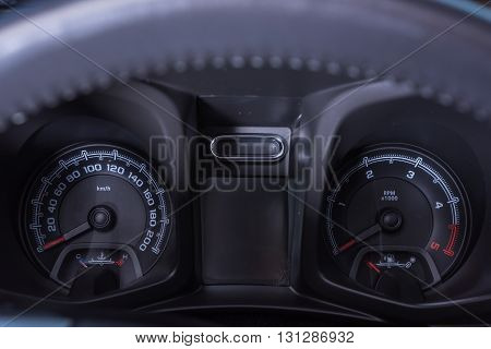 Car Interior Car Speedometer Control