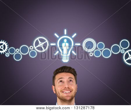 Human Resource New Bright Idea Working Conceptual Business Concept