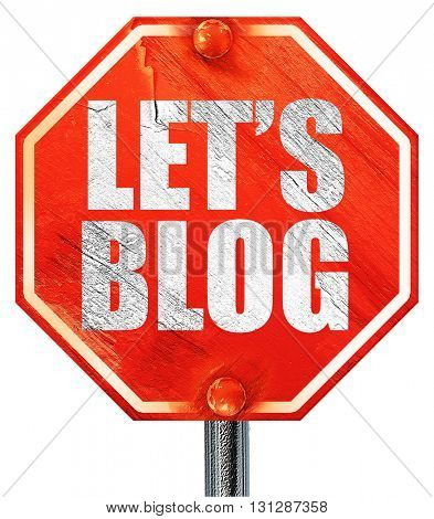 let's blog, 3D rendering, a red stop sign