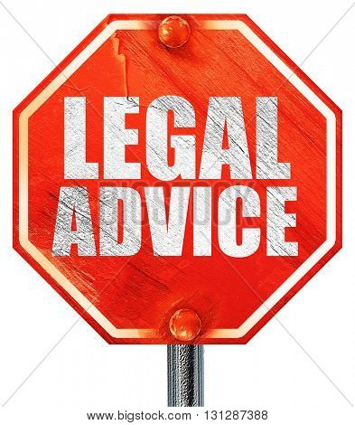 legal advice, 3D rendering, a red stop sign
