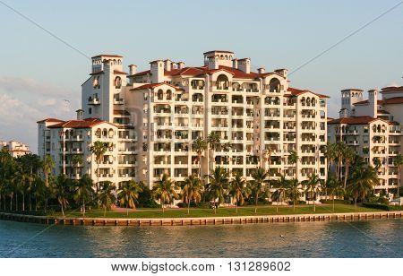 Condominium on water front in Miami Florida